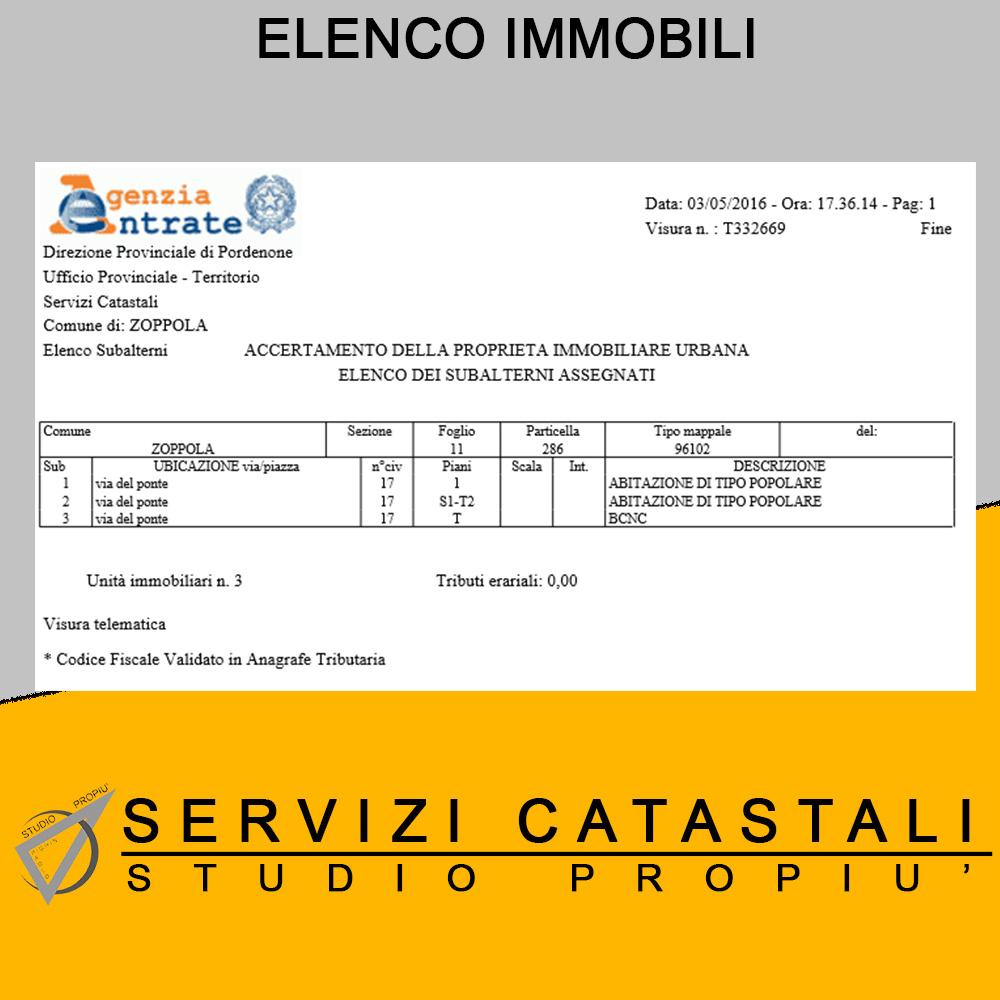 Elenco immobili studio propi di paolo pighin - Elenco classi catastali immobili ...