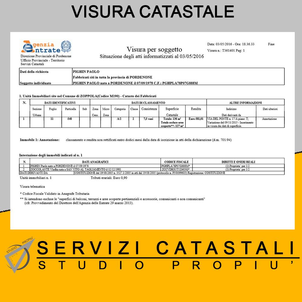 Visure catastali online for Visura catasto